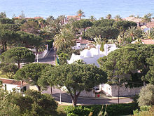 Marbella urbanisation: much of the population is dispersed in low density developments.